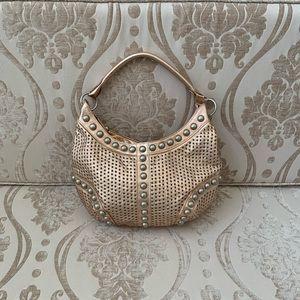 Danier genuine leather rose gold studded bag